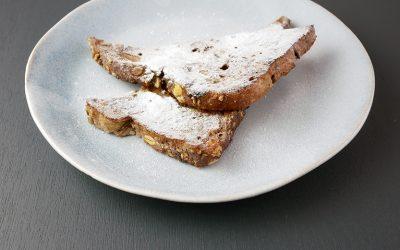 Wentelteefjes van notenbrood