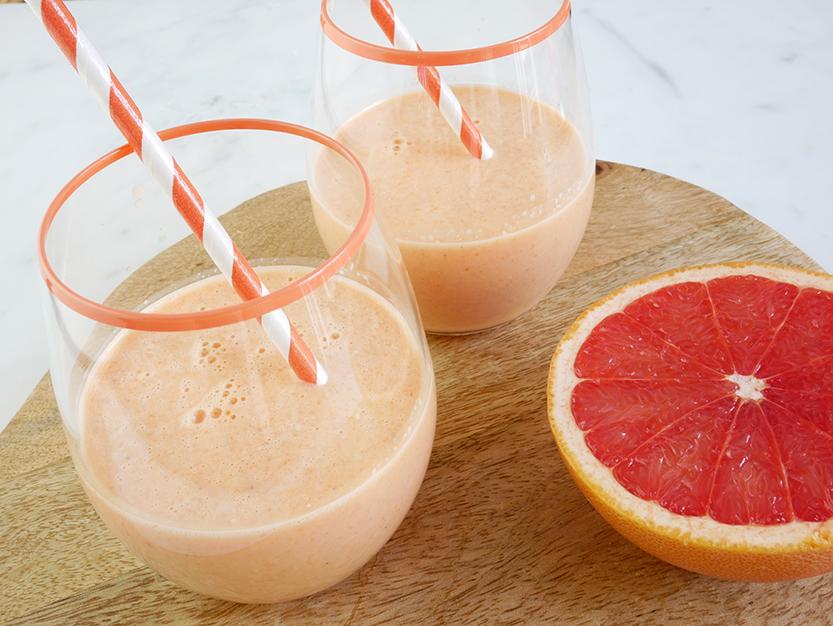 Drinkontbijt grapefruit en framboos